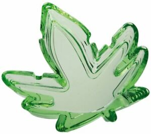 GLASS CANNABIS LEAF ASHTRAY Marijuana weed Cigarette Cigar smoking legalize NEW