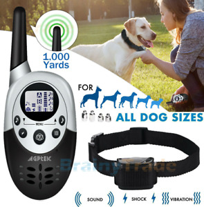 1000 yards Waterproof Dog Collar for Training Large and small Dogs Shock Remote