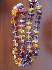 Vintage Natural Baltic Amber antique Multi Color Necklace
