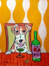jack russell terrier Absinthe animal Dog art 13x19 Glossy Print
