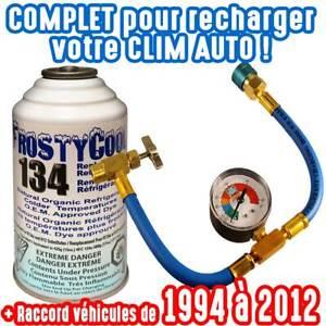 Kit complet  recharge de gaz  clim voiture auto R134a  Frostycool 134