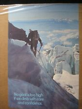 NO GOAL IS TOO HIGH IF WE CLIMB WITH CARE VINTAGE MINI POSTER 1970'S CNG2447