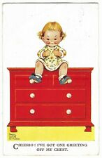 Mabel Lucie Attwell 'Cheerio! I've Got One Greeting' Vintage Postcard 14.11