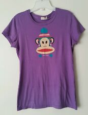 Paul Frank Winter Monkey 100% Cotton Purple Short Sleeve T Shirt Size Small