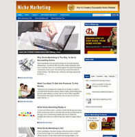 NICHE MARKETING BLOG WEBSITE WITH AFFILIATES AND NEW FREE DOMAIN + HOSTING