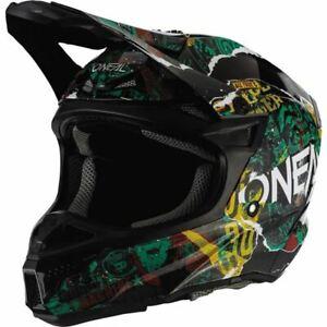 O'Neal Racing 5 Series Savage Helmet - Black/Teal/Yellow, All Sizes