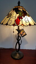 Dale Tiffany Stained Glass Grape Vine Table Lamp