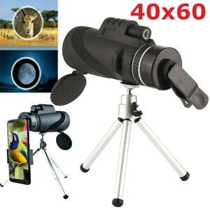 40X60 Fernglas HD-Optik-Zoom-Monokular Fernrohr Teleskop mit Stativ für Handy DE