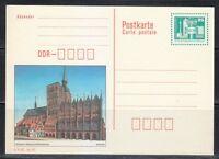 Germany DDR mint post card postkarte Stralsund,Rathaus & Church of Nikolai **