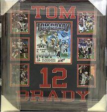 Tom Brady NE Patriots Super Bowl XLIX MVP Photo Collage Custom Framed 22x26