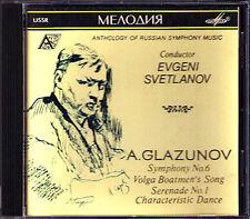 Evgeny Svetlanov Glazunov Symphony No. 6 Serenade 1 Melodiya CD Filarmonica Glasunow