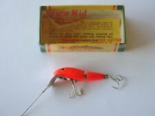 Vintage Cisco Kid Fishing Lure Model  # 1015 Fluorescent Red