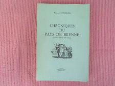GERARD COULON CHRONIQUES DU PAYS DE BRENNE EX N° 231/1500 DEDICACE 1978
