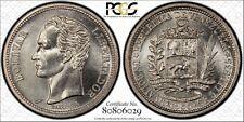 Venezuela 1 Bolivar 1965 (i) MS64 PCGS silver Y#37a Gem White Semi PL