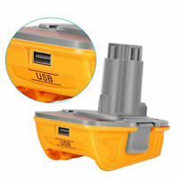 2Pack Replacement Dewalt 20V DCA1820 Battery Adapter with USB for Dewalt 18V Tools Convert Dewalt 20V Lithium Battery DCB204 DCB205 DCB206 DCB606 to Dewalt 18V NiCad NiMh DC9096 DW9096 DC9098 DC9099 DW9099 Battery Tools