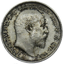 More details for 1909 threepence 3d - edward vii british silver coin - v nice