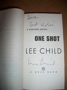 Jack Reacher One Shot #9 by Lee Child 2009 paperback signed autographed PB TR VG