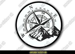 2 x Campervan stickers 070 decal VANLIFE camper van adventure compass