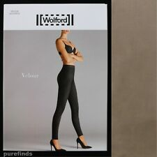 b5fbb4c90702b Wolford Velour Taupe Grey Leggings Size 34 UK 6 USA 2 Suede Effect