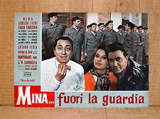 MINA FUORI LA GUARDIA fotobusta poster Aroldo Tieri Servizio Leva Militari BP23