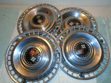 """VINTAGE 1961 CHEVY 409 IMPALA BELAIR BISCAYNE 14"""" HUBCAPS WHEEL COVERS"""