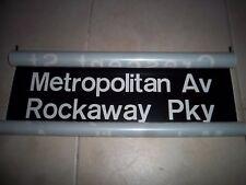 NYC SUBWAY SIGN BMT ART METROPOLITAN ROCKAWAY PARKWAY BROOKLYN NY ROLL SIGN ART