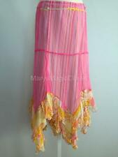 NWT OILILY Layered Sheer Pink Skirt Size: EU44 US14 MSRP: $348