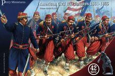 Perry Miniatures: Plastic American Civil War Zouaves - 42 28mm figures ACW70
