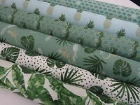 LATEST* Designer 'Tropical Plants Pineapple' Collection Cotton Curtain Fabric -