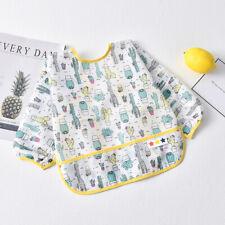 Infant Baby Toddler Long Sleeve Waterproof Feeding Bib Art Apron Feeding Smock