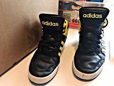 2016 Pre Owned Size 12 Adidas Hi Shoes Black & Yellow batman crisp Clean