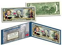 HILLARY RODHAM CLINTON for President 2016 Campaign Colorized Genuine US $2 Bill