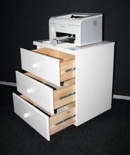 Massivholz Rollcontainer weiß Kiefer massiv Schrank mit Schubladen Kommode Büro