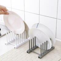 Kitchen Storage Pot Lid Rack Plate Organizer Dishes Holder Cover Draining C3V3