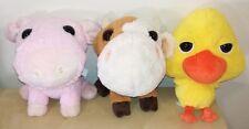 3 Amici della fattoria peluche pupazzi coop maiale mucca pulcino plush soft toys