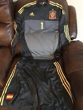 Spain España Casillas Real Madrid Player Issue Formotion L Shirt + Shorts Jersey