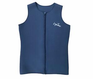 LayaTone Wetsuit Vest 3mm Neoprene Sleeveless Front Zip XXL