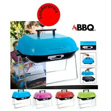 Tragbarer BBQ® Grill, 37 x 37 cm,Tischgrill Barbeque Camping Picknick - TÜRKIS