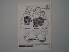 advertising Pubblicità 1960 CINPRESE BOLEX PAILLARD D8L/B8L/C8SL