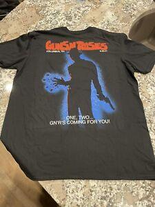 Guns N Roses Columbus Ohio Nightmare On Elm Street Freddy Krueger Shirt Size XL