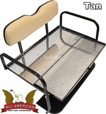 EZGO TXT (1994-up) Golf Cart ALL AMERICAN™ Rear Flip Back Seat Kit Cargo Bed