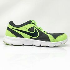 Nike Boys Flex Experience 599340-002 Black Green Running Shoes Lace Up Size 6Y