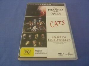 The Phantom of the Opera / Cats / Andrew Lloyd Webber DVD 3-Disc R4 Free Tracked