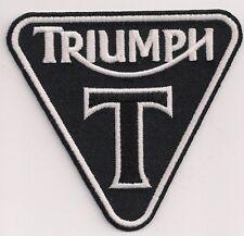 "Triumph Motorcycles T patent plate patch. 3.5"" Bonneville America Speedmaster"