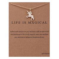 espumoso de regalo encantador es Mágico Unicornio Collar Con Tarjeta