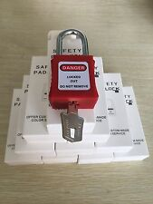10 X lockout tagout padlocks 38mm keyed different KD lock safety equipment