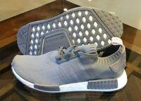 adidas Originals NMD_R1 Primeknit PK Triple Grey CQ2041 Women's Size 10 Men's 9