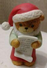Enesco Lucy And Me Bear 1985 Santa Bear Good Bear List