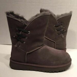 UGG Constantine Suede Charcoal Grey Boots # 7