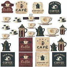 COFFEE Decals 31 Wall Stickers Decor Appliques labels Room Decorations Kitchen